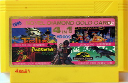 4-in-1 Novel Diamond Gold Card FELIX, DDUCK, DISNEY, JP