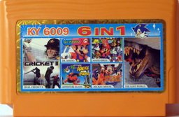 6-in-1 CRICKET, LOSTW, DRMARIO, MARIO, ADVISL, MICKEY