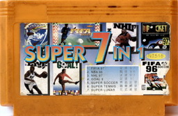 7-in-1 FIFA97, NBA96, NHL97 GOAL3, SOCCER, TENNIS, LUNAR