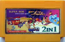 2-in-1 Super Aladdin, Earth Worm Jim 2 [Super Game]
